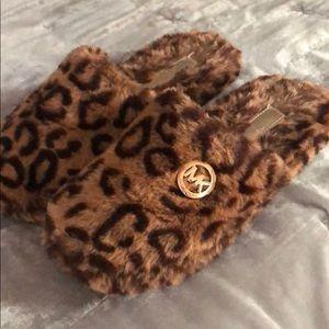 Michael Kors leopard Jetsetter slippers sz 8